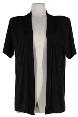 Short sleeve jacket - black - polyester/spandex