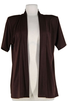 Short sleeve brown jacket - polyester/spandex