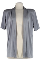 Short sleeve grey jacket - polyester/spandex