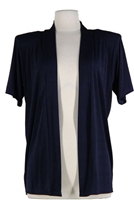 Short sleeve navy jacket - polyester/spandex