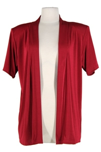 Short sleeve red jacket - polyester/spandex