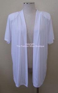 Short sleeve white jacket - polyester/spandex