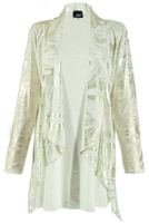 Vegas jacket - whte/gold - polyester/spandex