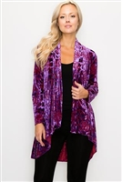 Vegas jacket - purple velvet burnout - polyester/spandex