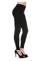 Full length leggings - black - nylon/spandex