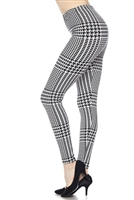 Leggings -  black/white checkered