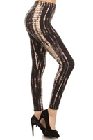 Leggings - black/white tie dye - polyester/spandex