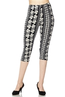 Capri leggings -  black/white symphony print