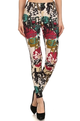 Leggings - color splashes - polyester/spandex