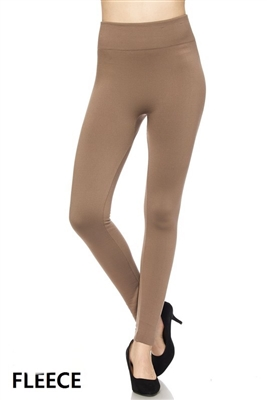 Fleece leggings - beige