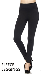 Fleece leggings - black