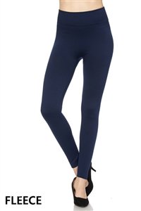 Fleece leggings - navy