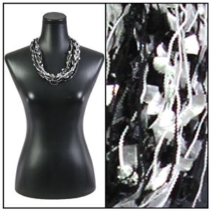 Confetti Necklace with Magnetic Clasp - Black/White