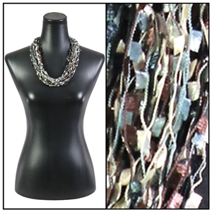 Confetti Necklace with Magnetic Clasp - Black/Taupe/Grey
