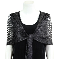 Metallic Shawl - black - polyester
