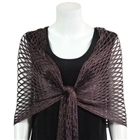 Metallic Shawl - brown - polyester