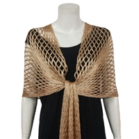 Metallic Shawl - gold - polyester