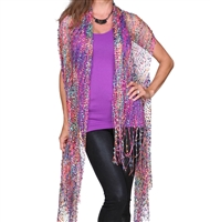 Confetti Vests with Sparkles - hot pink multicolor