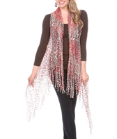 Confetti Vests with Sparkles - red/brown/gold