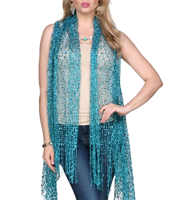 Confetti Vests with Sparkles - teal