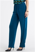 Pants - teal - acetate/spandex