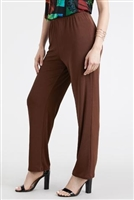 Pants - brown  - polyester/spandex