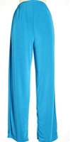 Pants - turquoise  - polyester/spandex