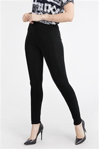 Slim pants - black  - acetate/spandex