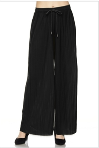 Pleated palazzo pants - black