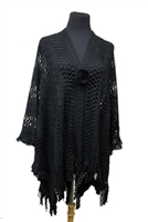 Knit ruana - black