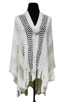 Knit ruana - white
