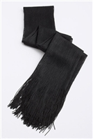 Long glitter scarf with fringe - black