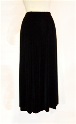 Gored skirt - black - acetate/spandex