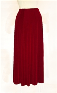 Gored skirt - cranberry - acetate/spandex