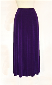 Gored skirt - purple - acetate/spandex