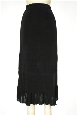 Ruffle skirt - black - acetate/spandex