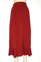 Ruffle skirt - cranberry - acetate/spandex