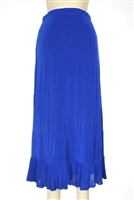 Ruffle skirt - royal blue - acetate/spandex