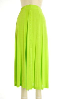 Button skirt - lime - polyester/spandex