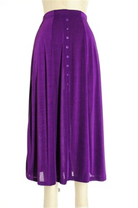 Button skirt - purple - polyester/spandex