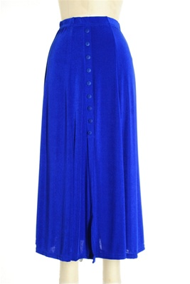 Button skirt - royal blue - polyester/spandex