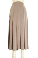 Button skirt - taupe - polyester/spandex
