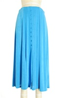 Button skirt - turquoise - polyester/spandex