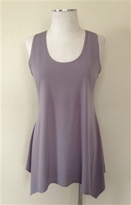 Two point tank top - grey - polyester/spandex
