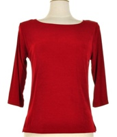 3/4 sleeve top - cranberry - acetate/spandex