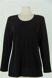 Long sleeve top - black - acetate/spandex