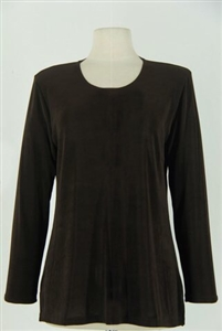 Long sleeve top - brown - acetate/spandex