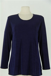 Long sleeve top - navy - acetate/spandex