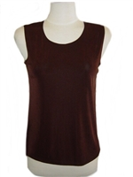 Tank top - brown- acetate/spandex