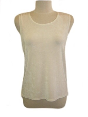 Tank top - ivory - acetate/spandex